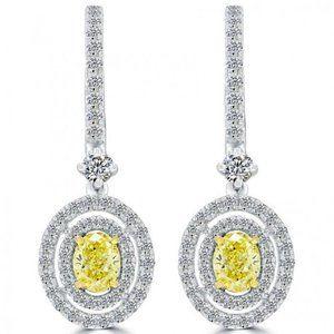 Jewelry - 2 carats Women round cut diamonds Stud earrings
